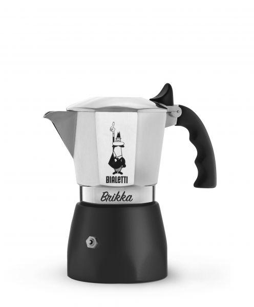 Bialetti Espressokocher Brikka Elite mit Cremaventil für 2 Tassen - B-Ware