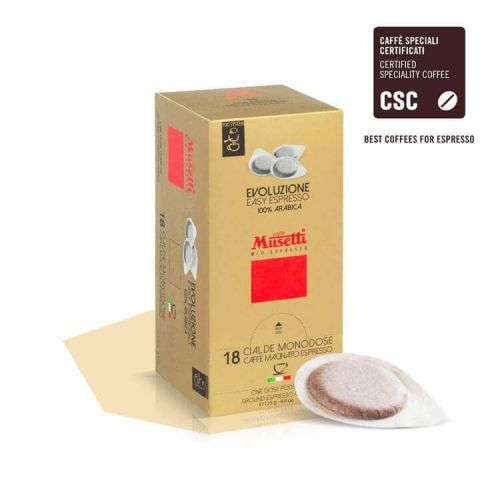 Musetti kompostierbare Cialda Pads EVOLUZIUONE 18-er Box