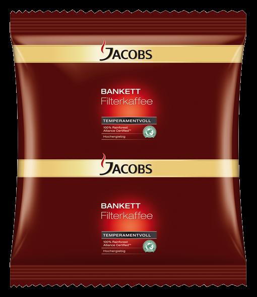 Jacobs Bankett Temperamentvoll 70g Sachet - 72 Stück für Filtersysteme - kr2963 - 4055238