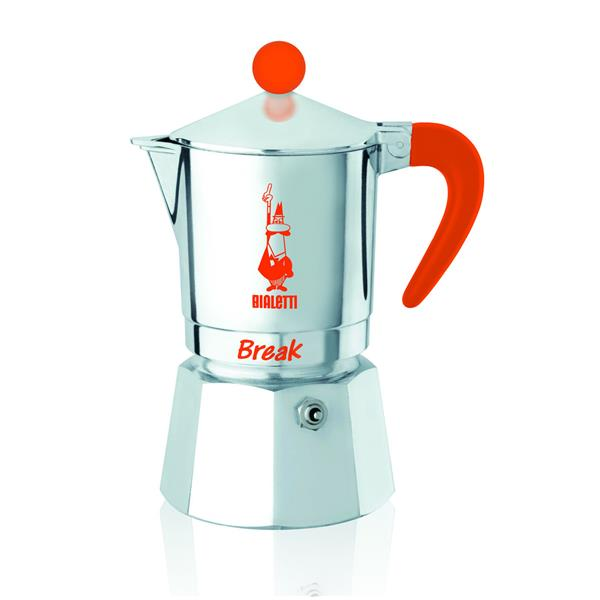 Bialetti Break orange - Aluminium-Espressokocher für 1 Tasse