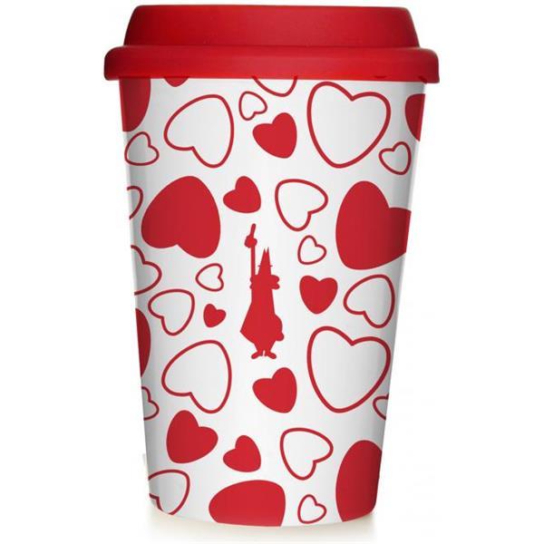 Bialetti Coffee to go Kaffeebecher Porzellan Cuore 350ml
