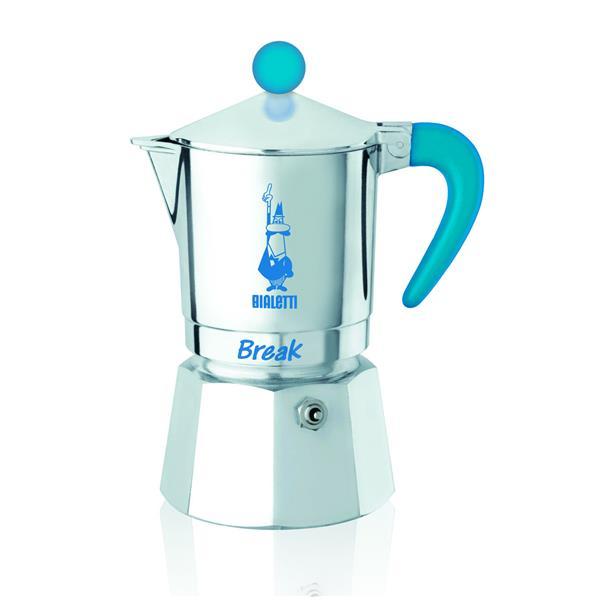 Bialetti Break blau - Aluminium-Espressokocher für 1 Tasse