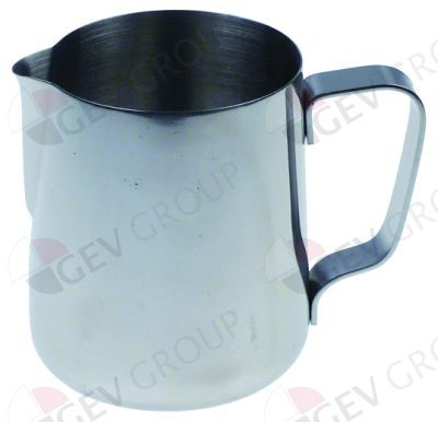 Milchkännchen Inox mit Ausgießnase 0,9l