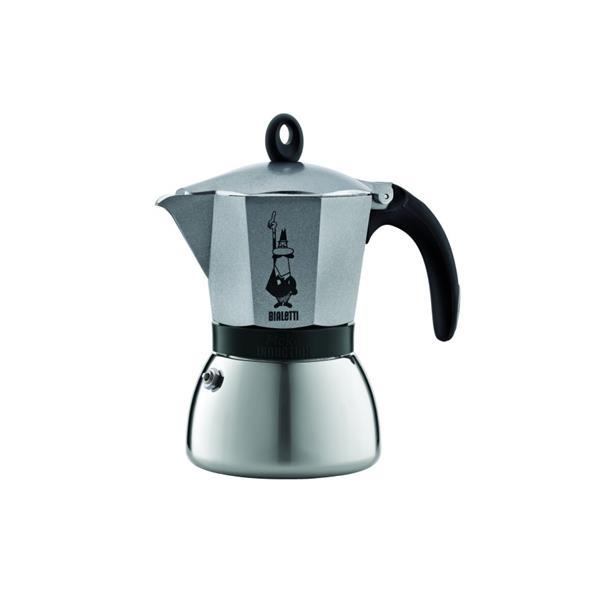 Bialetti Espressokocher Moka Induktion Anthrazit für 3 Tassen