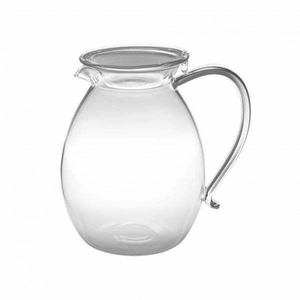 MIZU Borosilikat Glaskanne mit Glasdeckel für Kaffee und Coffee Dribbler