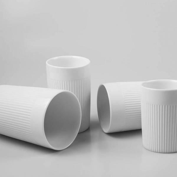 IONIC Mug - Doppelwandige Porzellantasse stark isolierend warm und kalt