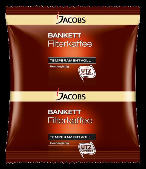 Jacobs Bankett Temperamentvoll 60g Sachet - 80 Stück für Filtersysteme - 4055233
