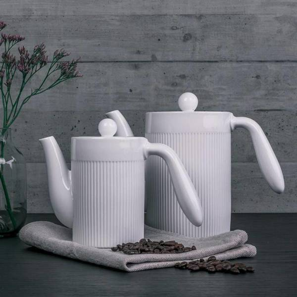 IONIC Coffee Pot Kaffeekanne mit Edelstahl Dauerfilter das Original
