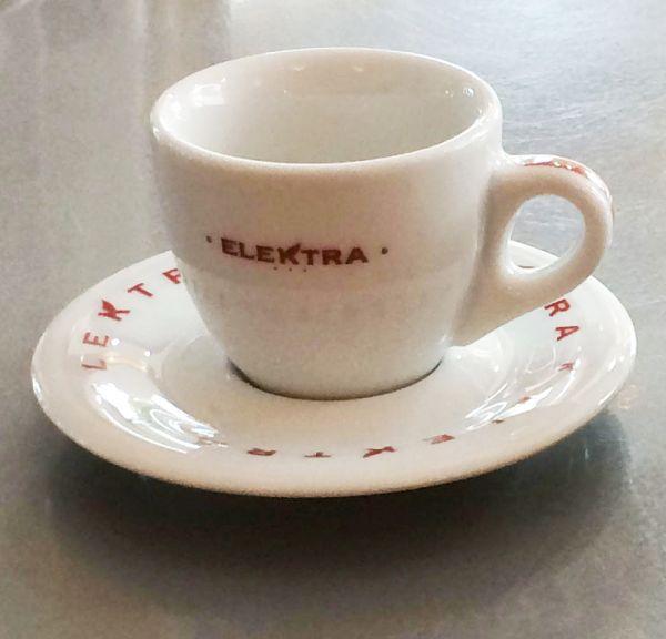espresso tassen rote schrift von elektra 6 st ck g nstig auf kaufen. Black Bedroom Furniture Sets. Home Design Ideas