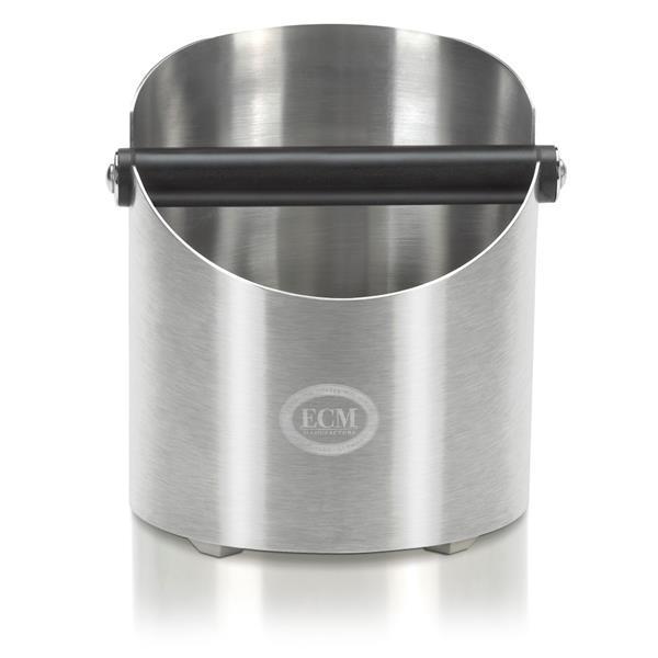 ECM Kaffee-Abschlagbox Edelstahl satiniert Höhe/Durchmesser 16/14cm