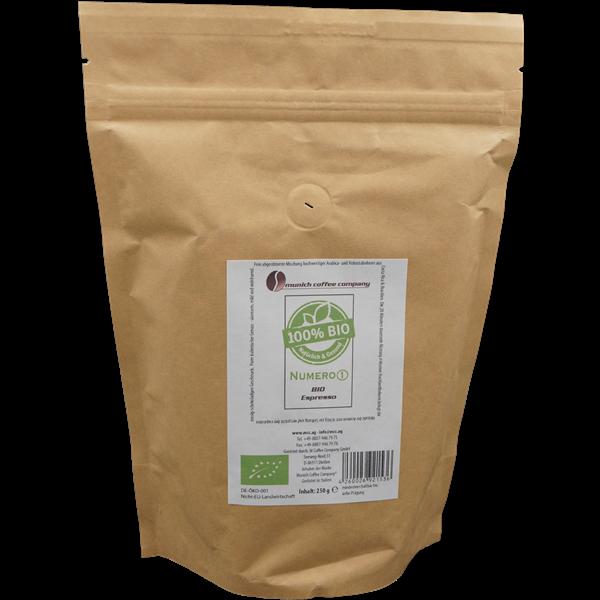 MCC Espresso Numero1 BIO - 100% Bio + Fairtrade - Bohnen 250g