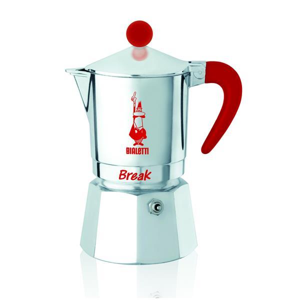 bialetti break rot aluminium espressokocher f r 1 tasse g nstig auf kaufen. Black Bedroom Furniture Sets. Home Design Ideas