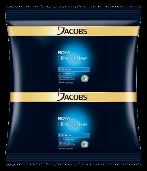 Jacobs Royal Elegant 60g Sachet - 80 Stück für Filtersysteme - 4055234