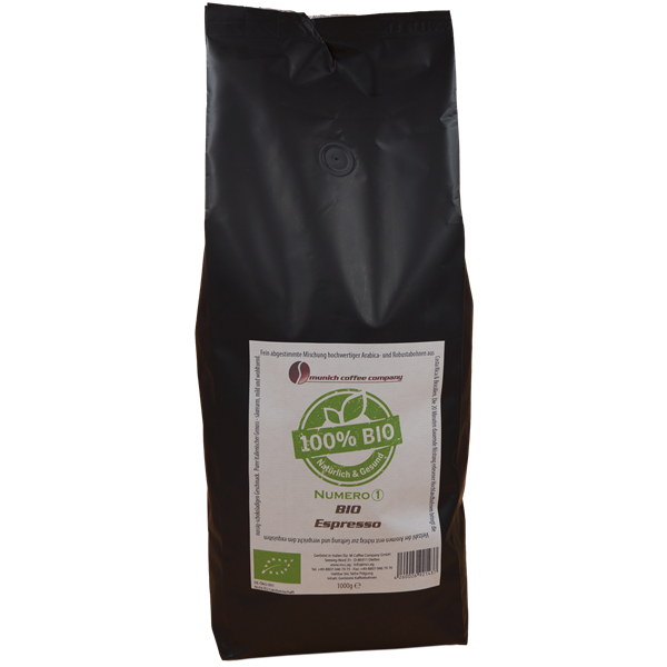 MCC Espresso Numero1 BIO - 100% Bio + Fairtrade - Bohnen 1kg
