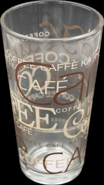 Glas Coffee Dekor für Latte Macchiato 390cl