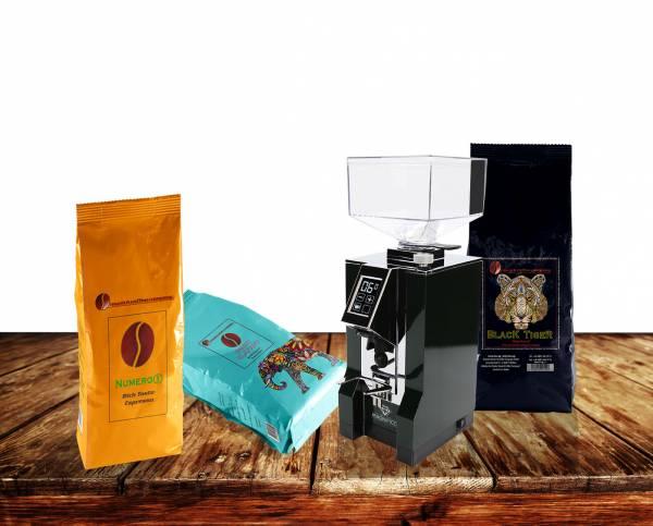 Eureka New Mignon Magnifico mattschwarz nebst leckerem Espresso AKTION