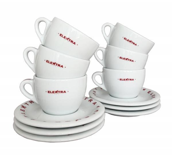 Cappuccino Tassen von ELEKTRA (6 Stück)