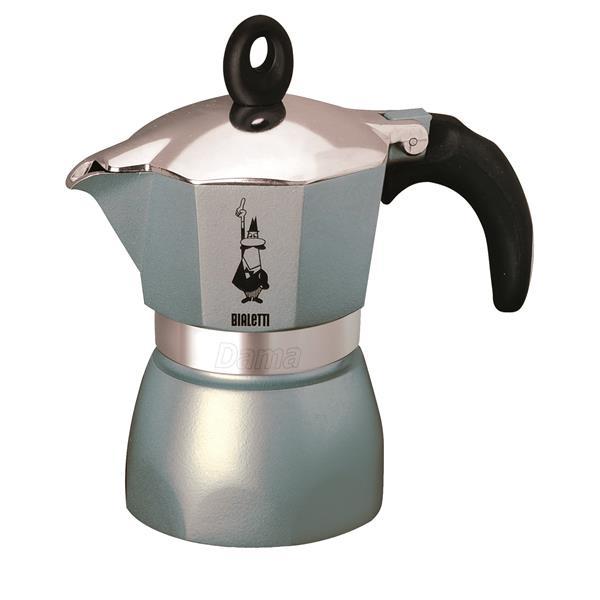 Bialetti Dama Glamour Design-Aluminium-Espressokocher für 3 Tassen - blau